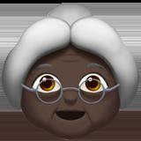 Смайл Бабушка (черный тон) ВКонтакте