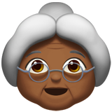 Смайл Бабушка (темно-коричневый тон) ВКонтакте