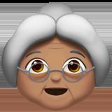 Смайл Бабушка (оливковый тон) ВКонтакте