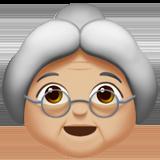 Смайл Бабушка (светло-коричневый тон) ВКонтакте
