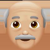 Смайл Дедушка (светло-коричневый тон) ВКонтакте