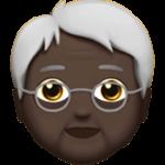 Смайл Пожилой человек: темный тон кожи ВКонтакте