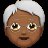 Смайл Пожилой человек: темный тон кожи средней степени ВКонтакте