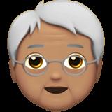 Смайл Пожилой человек: средний тон кожи ВКонтакте