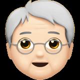 Смайл Пожилой человек: светлый тон кожи ВКонтакте
