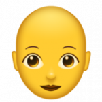 Смайл Женщина: лысая ВКонтакте