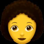 Смайл Женщина: вьющиеся волосы ВКонтакте