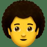 Смайл Мужчина: вьющиеся волосы ВКонтакте
