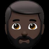 Смайл Бородатый человек: темный оттенок кожи ВКонтакте