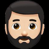 Смайл Бородатый человек: светлый тон кожи ВКонтакте
