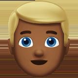 Смайл Человек со светлыми волосами (темно-коричневый тон) ВКонтакте