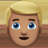 Смайл Человек со светлыми волосами (оливковый тон) ВКонтакте