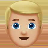 Смайл Человек со светлыми волосами (светло-коричневый тон) ВКонтакте
