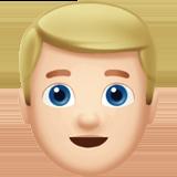 Смайл Человек со светлыми волосами (светлый тон) ВКонтакте