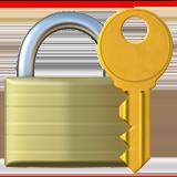 Смайл Закрытый замок с ключом ВКонтакте