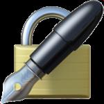 Смайл Закрытый замок с перьевой ручкой ВКонтакте