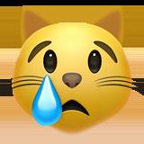 Смайл Кот плачет ВКонтакте