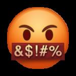 Смайл Лицо с символами через рот ВКонтакте