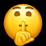 Смайл Лицо с пальцем у губ ВКонтакте
