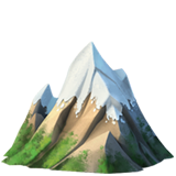 Смайл Гора со снежной шапкой ВКонтакте