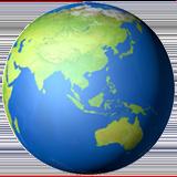 Смайл Азия и Австралия на земном шаре ВКонтакте