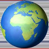 Смайл Европа и Африка на земном шаре ВКонтакте