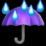 Смайл Зонт под дождем ВКонтакте