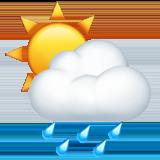 Смайл Солнце за тучей ВКонтакте