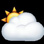 Смайл Солнце за большим облаком ВКонтакте