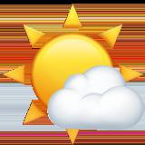 Смайл Солнце за меленьким облаком ВКонтакте
