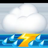 Смайл Грозовое облако и дождь ВКонтакте