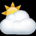 Смайл Солнце за облаками ВКонтакте