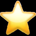 Смайл Белая средняя звезда ВКонтакте