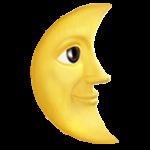 Смайл Луна в последней четверти с лицом ВКонтакте