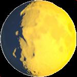 Смайл Прибывающая луна ВКонтакте
