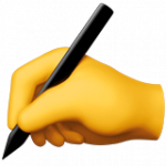 Смайл Пишущая рука ВКонтакте