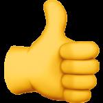 Смайл Большой палец вверх ВКонтакте
