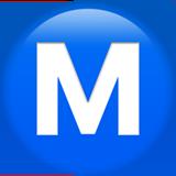 Смайл Буква «м» в кружке ВКонтакте