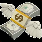 Смайл Банкнота с крылышками ВКонтакте