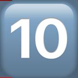 Смайл Кнопка «десять» ВКонтакте