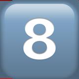 Смайл Кнопка «восемь» ВКонтакте