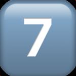 Смайл Кнопка «семь» ВКонтакте
