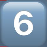 Смайл Кнопка «шесть» ВКонтакте