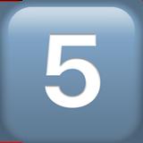 Смайл Кнопка «пять» ВКонтакте