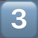 Смайл Кнопка «три» ВКонтакте