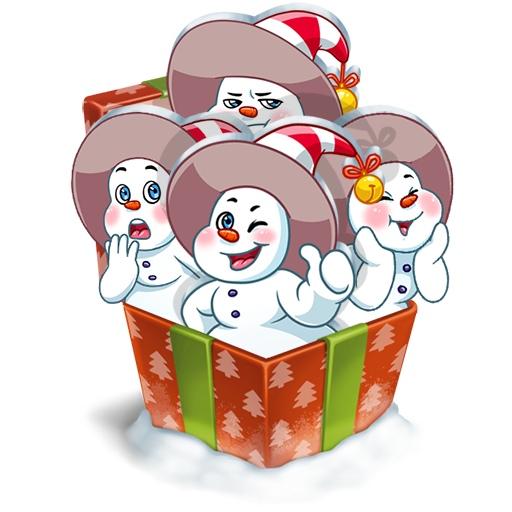Стикеры Снеговичок ВКонтакте