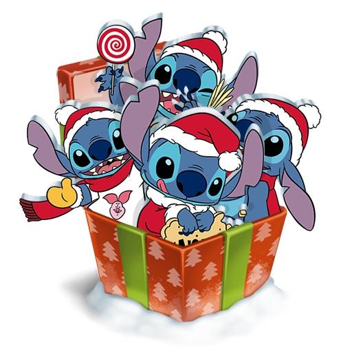 Стикеры Стич и Новый год ВКонтакте