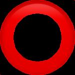 Смайл Красный круг ВКонтакте