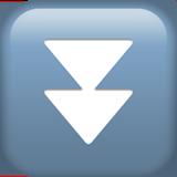 Смайл Черный направленный вниз двойной треугольник ВКонтакте