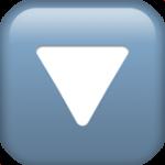 Смайл Кнопка треугольник острием вниз ВКонтакте